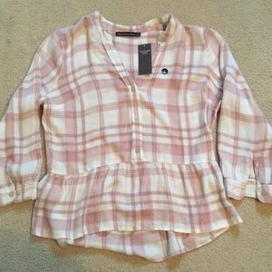 Pink and White Flannel